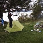 Camping spot at Lago Fagnano