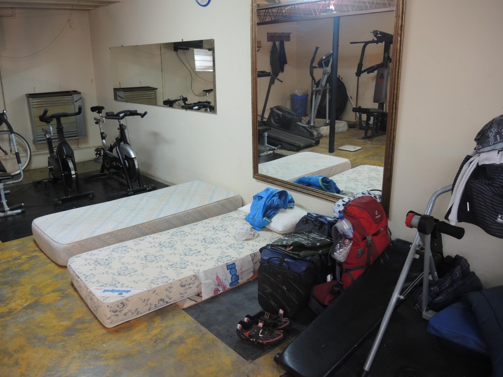 Free lodging in the fitness room of the bakery owner