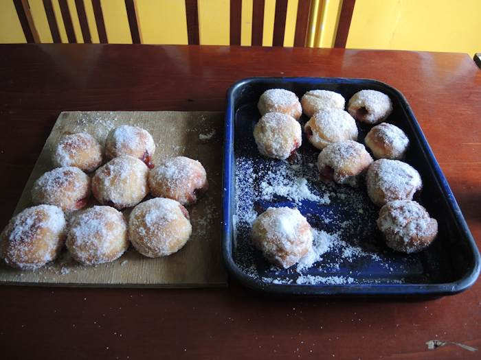 Donuts prepared by Kathi and John.