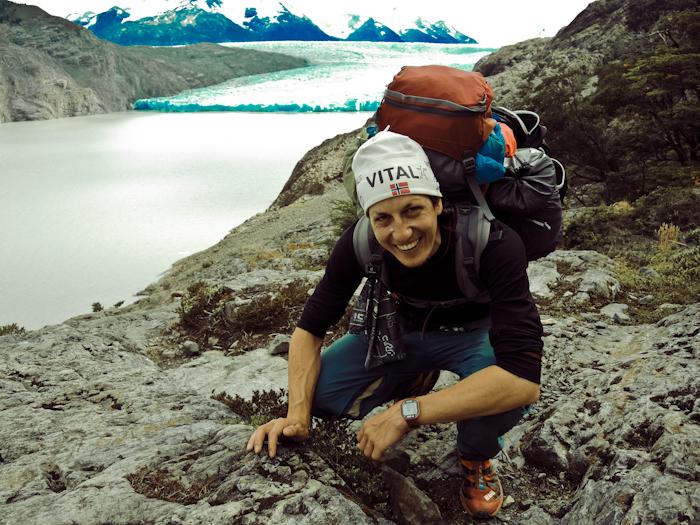 Grey Glacier and me.