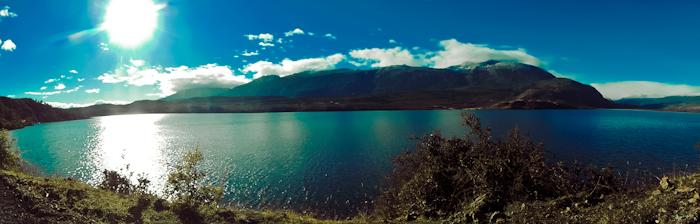 Am nächsten Tag herrliches Wetter und beeindruckende Landschaft.