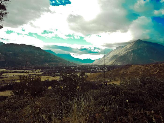Blick zurück auf dem Weg Richtung Bariloche