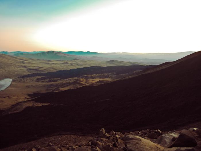 Vulkan Tromen Blick nach Unten