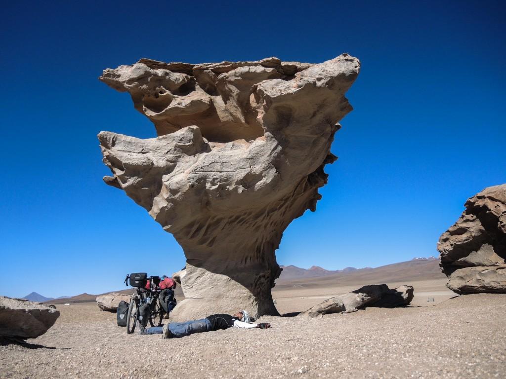 Arbol de Piedra. Stone formed by wind.